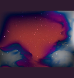 Outer space with star field scene vector