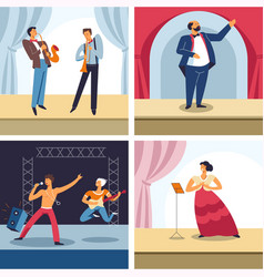 Performing arts jazz theater rock and opera vector