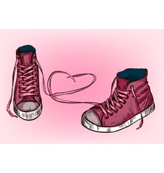 Pink Sneakers Design vector image