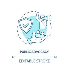 Public advocacy concept icon vector