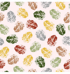 seamless pattern texture leaves hawthorn vector image
