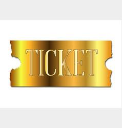 Simple golden ticket vector