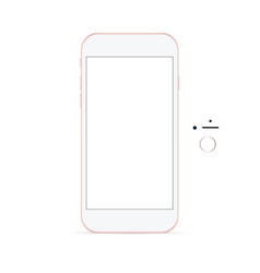 smartphone with buttons vector image