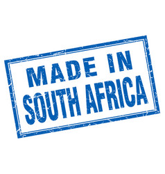 south africa blue square grunge made in stamp vector image