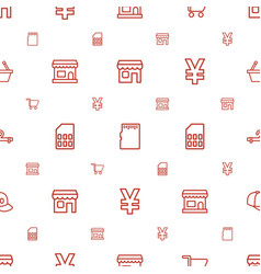 Store icons pattern seamless white background vector