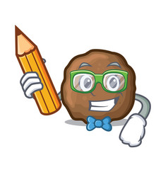 Student meatball character cartoon style vector