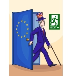 The Englishman leaves the European Union vector image