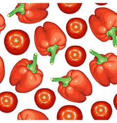 tomato pepper pattern vector image vector image