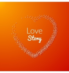 Valentine Dot Background with Heart shape Love vector image