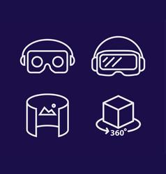 vr glasses for smartphone line vector image