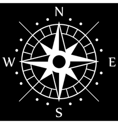 White Compass Symbol vector