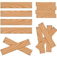 Wooden elements vector