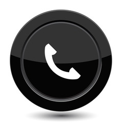 Button with phone vector image vector image