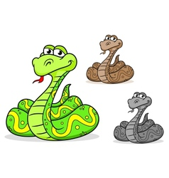 Cartoon python snake vector image