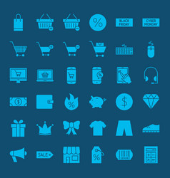 cyber monday glyph web icons vector image