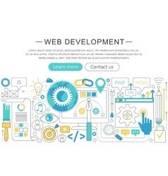 elegant thin flat line Web development vector image vector image