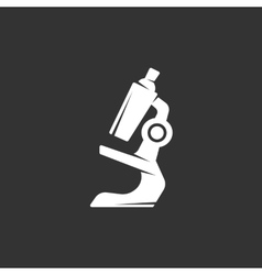 Microscope logo on black background icon vector image