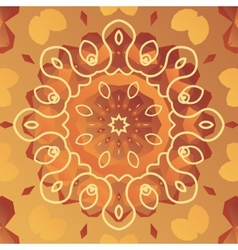 Orient patter with stylized flower vector image