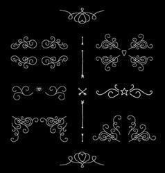 Ornate filigree borders frames design elements vector image vector image