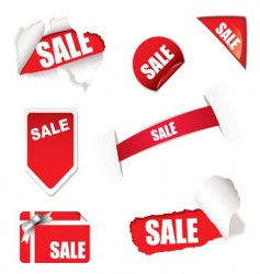 shop sale elements vector image vector image
