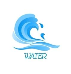 Blue ea wave abstract symbol vector image