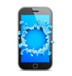 Broken Mobile Phone vector image vector image