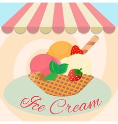 Cafe ice cream vector image