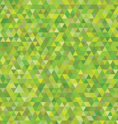 green triangles pattern vector image