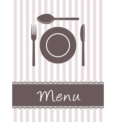 kitchen menu vector image vector image