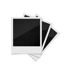 Photo frames on a white background vector image vector image
