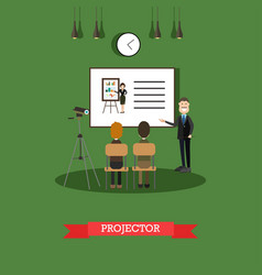 projector concept in flat vector image vector image
