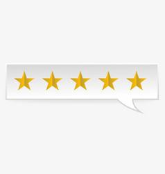 rating rank stars symbols vector image