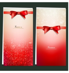 Elegant Invitation Cards Template vector image vector image