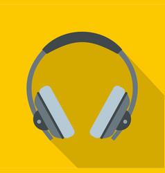 headphone icon flat style vector image vector image