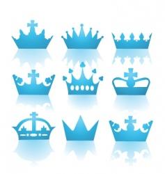 heraldic crowns vector image