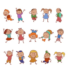 Icons of children vector image