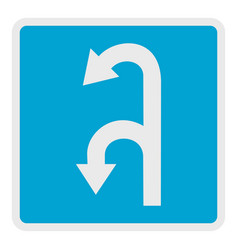 left turn arrow icon flat style vector image