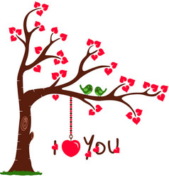 Love Tree with I Love You vector image vector image