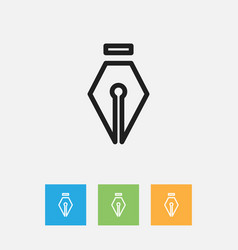 of science symbol on ink vector image