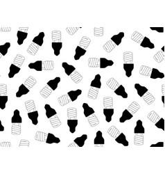 seamless light bulbs vector image