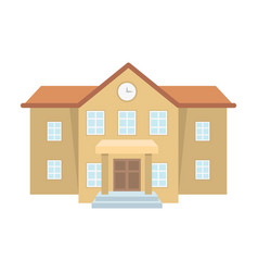 the main entrance of the institution the school vector image