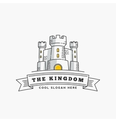 Abstract Kingdom Label Sign or Logo vector image