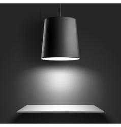 Black ceiling lamp vector image