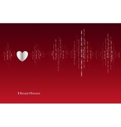 Fall in love heart beats cardiogram design vector image
