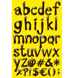 Small letters of the alphabet vector