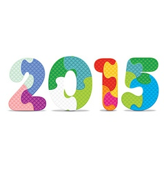 2015 made from alphabet puzzle vector