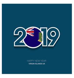 2019 virgin islands uk typography happy new year vector