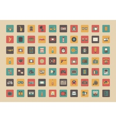 345all retro gadget icon vector image