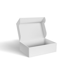 3d open blank packaging box for software vector image
