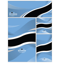 abstract botswana flag background vector image